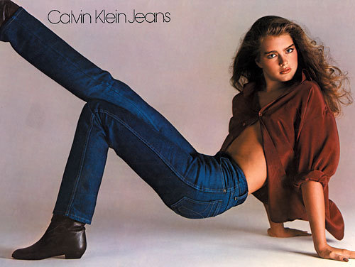 Brooke Shields for Calvin Klein